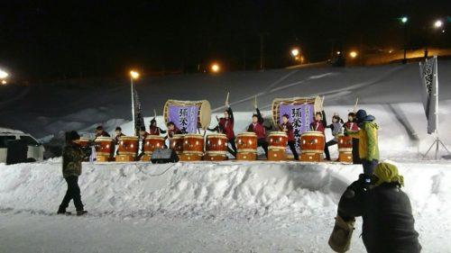 ふらのスキー祭り 太鼓
